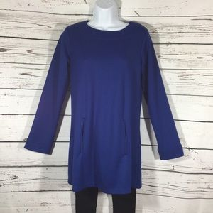 Royal Blue Oversized Tunic - Great with Leggings!